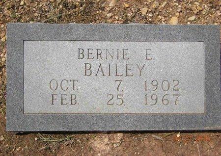 BAILEY, BERNIE E. - Bell County, Texas | BERNIE E. BAILEY - Texas Gravestone Photos