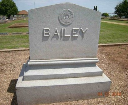 BAILEY, FAMILY MARKER - Bell County, Texas   FAMILY MARKER BAILEY - Texas Gravestone Photos