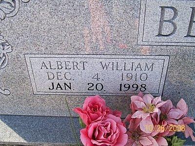 BERRY, ALBERT WILLIAM (CLOSEUP) - Bell County, Texas   ALBERT WILLIAM (CLOSEUP) BERRY - Texas Gravestone Photos