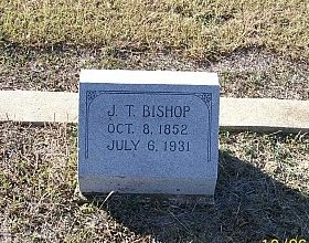 BISHOP, J. T. - Bell County, Texas   J. T. BISHOP - Texas Gravestone Photos