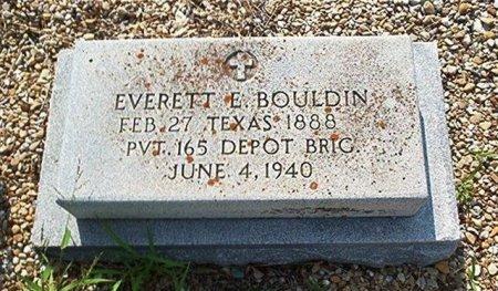 BOULDIN (VETERAN), EVERETT E. - Bell County, Texas | EVERETT E. BOULDIN (VETERAN) - Texas Gravestone Photos