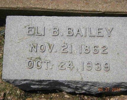 BAILEY, ELI B. - Bell County, Texas | ELI B. BAILEY - Texas Gravestone Photos