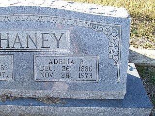 CHANEY, ADELIA BOYD (CLOSEUP) - Bell County, Texas | ADELIA BOYD (CLOSEUP) CHANEY - Texas Gravestone Photos