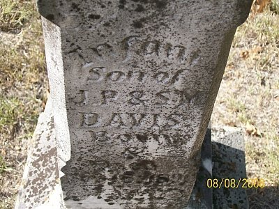 DAVIS, INFANT SON (CLOSEUP) - Bell County, Texas | INFANT SON (CLOSEUP) DAVIS - Texas Gravestone Photos