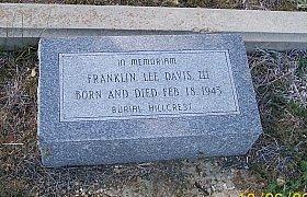 DAVIS, III, FRANKLIN LEE - Bell County, Texas | FRANKLIN LEE DAVIS, III - Texas Gravestone Photos