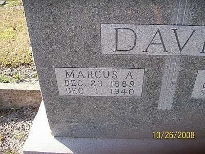 DAVIS, MARCUS ANDREW (CLOSEUP) - Bell County, Texas | MARCUS ANDREW (CLOSEUP) DAVIS - Texas Gravestone Photos