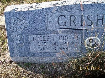GRISHAM, JOSEPH EDGAR (CLOSEUP) - Bell County, Texas | JOSEPH EDGAR (CLOSEUP) GRISHAM - Texas Gravestone Photos