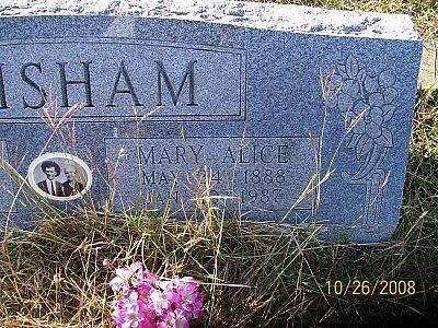 GRISHAM, MARY ALICE  (CLOSEUP) - Bell County, Texas | MARY ALICE  (CLOSEUP) GRISHAM - Texas Gravestone Photos