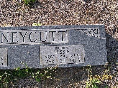 HONEYCUTT, BESSIE (CLOSEUP) - Bell County, Texas | BESSIE (CLOSEUP) HONEYCUTT - Texas Gravestone Photos