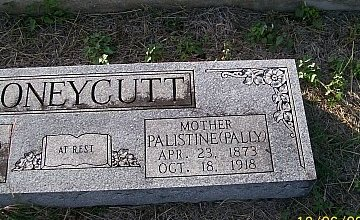 "HONEYCUTT, PALISTINE ""PALLY"" (CLOSEUP) - Bell County, Texas   PALISTINE ""PALLY"" (CLOSEUP) HONEYCUTT - Texas Gravestone Photos"