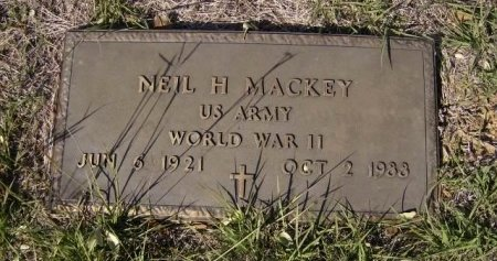 MACKEY (VETERAN WWII), NEIL H. - Bell County, Texas | NEIL H. MACKEY (VETERAN WWII) - Texas Gravestone Photos