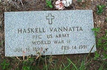 VANNATTA (VETERAN WWII), HASKELL - Bell County, Texas | HASKELL VANNATTA (VETERAN WWII) - Texas Gravestone Photos