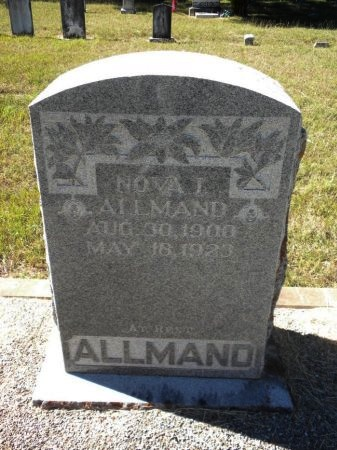 ALLMAND, NOVA ISABEL - Blanco County, Texas | NOVA ISABEL ALLMAND - Texas Gravestone Photos