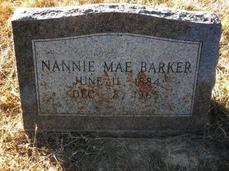 BARKER, NANNIE MAE - Blanco County, Texas | NANNIE MAE BARKER - Texas Gravestone Photos