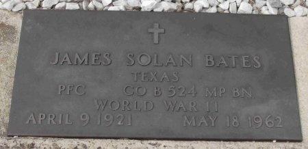 BATES (VETERAN WWII), JAMES SOLAN - Blanco County, Texas | JAMES SOLAN BATES (VETERAN WWII) - Texas Gravestone Photos