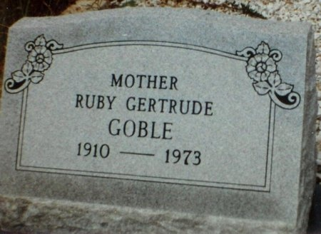 SCARBOROUGH GOBLE, RUBY GERTRUDE - Blanco County, Texas | RUBY GERTRUDE SCARBOROUGH GOBLE - Texas Gravestone Photos