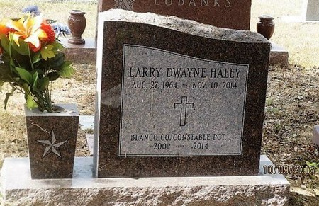 HALEY, LARRY DWAYNE - Blanco County, Texas | LARRY DWAYNE HALEY - Texas Gravestone Photos