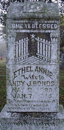 BONDS, ETHEL ANNIE - Bosque County, Texas | ETHEL ANNIE BONDS - Texas Gravestone Photos