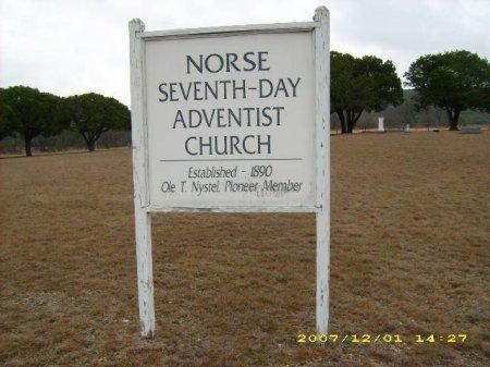 *CHURCH SIGN,  - Bosque County, Texas    *CHURCH SIGN - Texas Gravestone Photos