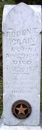 CRAIN, RODEN TAYLOR - Bosque County, Texas | RODEN TAYLOR CRAIN - Texas Gravestone Photos