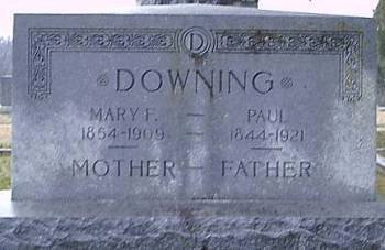 DOWNING, MARY F. - Bosque County, Texas | MARY F. DOWNING - Texas Gravestone Photos