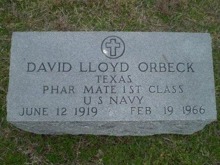 ORBECK (VETERAN), DAVID LLOYD - Bosque County, Texas | DAVID LLOYD ORBECK (VETERAN) - Texas Gravestone Photos