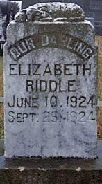 RIDDLE, ELIZABETH - Bosque County, Texas   ELIZABETH RIDDLE - Texas Gravestone Photos