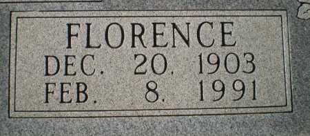 WOODY, FLORENCE (CLOSEUP) - Bosque County, Texas | FLORENCE (CLOSEUP) WOODY - Texas Gravestone Photos