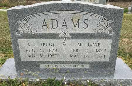 ADAMS, A. J. - Bowie County, Texas | A. J. ADAMS - Texas Gravestone Photos