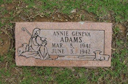 ADAMS, ANNIE GENEVA - Bowie County, Texas | ANNIE GENEVA ADAMS - Texas Gravestone Photos