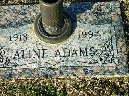 ADAMS, ALINE - Bowie County, Texas | ALINE ADAMS - Texas Gravestone Photos
