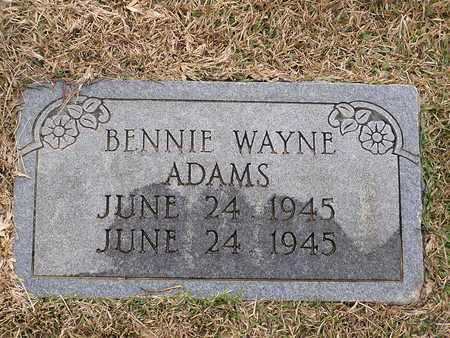 ADAMS, BENNIE WAYNE - Bowie County, Texas | BENNIE WAYNE ADAMS - Texas Gravestone Photos