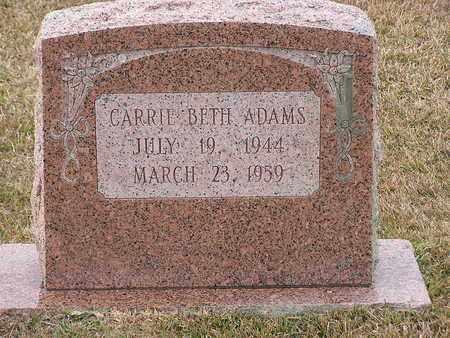 ADAMS, CARRIE BETH - Bowie County, Texas   CARRIE BETH ADAMS - Texas Gravestone Photos
