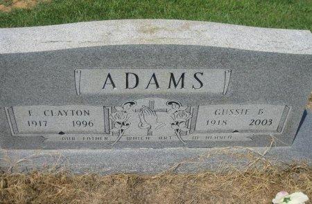 ADAMS, GUSSIE - Bowie County, Texas | GUSSIE ADAMS - Texas Gravestone Photos