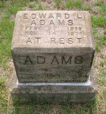 ADAMS, EDWARD L. - Bowie County, Texas | EDWARD L. ADAMS - Texas Gravestone Photos