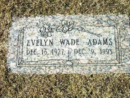 ADAMS, EVELYN - Bowie County, Texas   EVELYN ADAMS - Texas Gravestone Photos