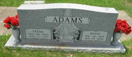ADAMS, MADIE - Bowie County, Texas | MADIE ADAMS - Texas Gravestone Photos