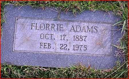 ADAMS, FLORRIE - Bowie County, Texas | FLORRIE ADAMS - Texas Gravestone Photos