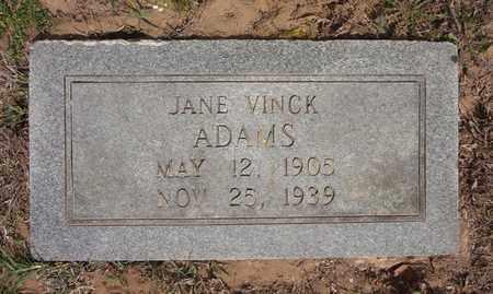 ADAMS, JANE - Bowie County, Texas | JANE ADAMS - Texas Gravestone Photos