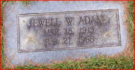 ADAMS, JEWELL W - Bowie County, Texas | JEWELL W ADAMS - Texas Gravestone Photos