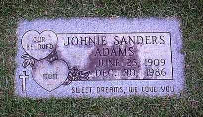 ADAMS, JOHNIE (FOOTMARKER) - Bowie County, Texas   JOHNIE (FOOTMARKER) ADAMS - Texas Gravestone Photos