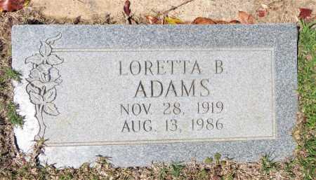ADAMS, LORETTA B. - Bowie County, Texas | LORETTA B. ADAMS - Texas Gravestone Photos