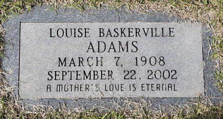 ADAMS, LOUISE - Bowie County, Texas | LOUISE ADAMS - Texas Gravestone Photos