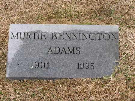 ADAMS, MURTIE - Bowie County, Texas | MURTIE ADAMS - Texas Gravestone Photos