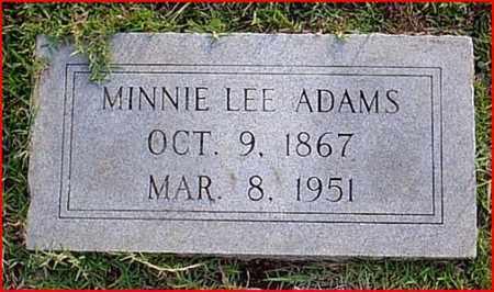 ADAMS, MINNIE LEE - Bowie County, Texas | MINNIE LEE ADAMS - Texas Gravestone Photos