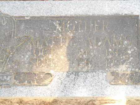 ADAMS, MATTIE - Bowie County, Texas   MATTIE ADAMS - Texas Gravestone Photos