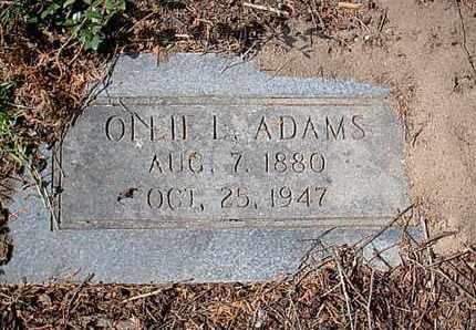 ADAMS, OLLIE L - Bowie County, Texas   OLLIE L ADAMS - Texas Gravestone Photos