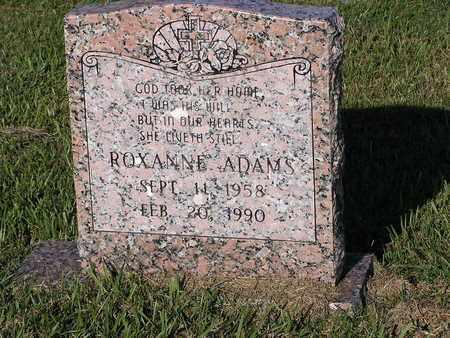 ADAMS, ROXANNE - Bowie County, Texas | ROXANNE ADAMS - Texas Gravestone Photos