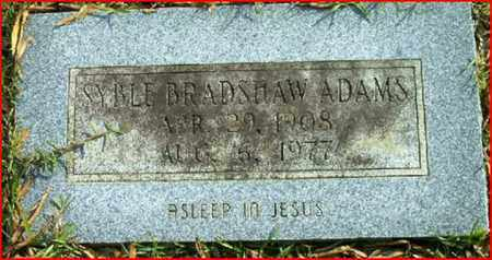 ADAMS, SYBLE BRADSHAW - Bowie County, Texas | SYBLE BRADSHAW ADAMS - Texas Gravestone Photos