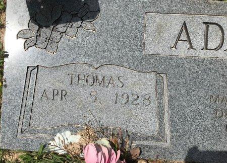 ADAMS, THOMAS (CLOSEUP) - Bowie County, Texas | THOMAS (CLOSEUP) ADAMS - Texas Gravestone Photos